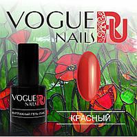 Витражный гель лак Vogue Nails, красный, 6 мл