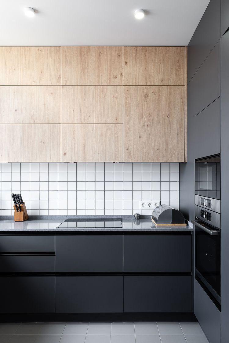 Кухня на заказ фасады мдф краска графит мат ручка профиль + дсп egger