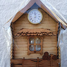 Ключниця Вешалка-домик с часами, фото 2