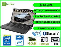 "Ноутбук Toshiba С70 17.3"" Pentium 2 ядра/DDR3 4GB/HDD 500GB/Гарантия"