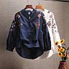 Стильная рубашка с вышивкой (в расцветках 42-46), фото 2