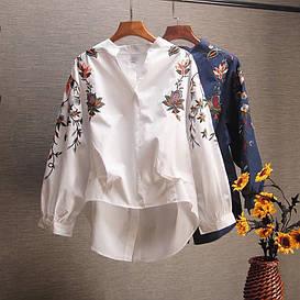 Стильная рубашка с вышивкой (в расцветках 42-46)