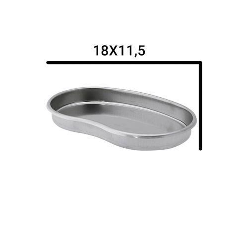 Металевий лоток для стерилізації , почкообразный -18х11,5см