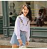 Классическая белая женская рубашка с вышивкой 44-46, фото 3