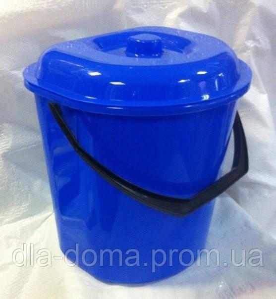 Ведро для мусора пристенное с крышкой 12л