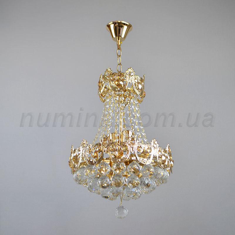 Люстра подвесная на шесть ламп 3-E1463/6 хрустальная