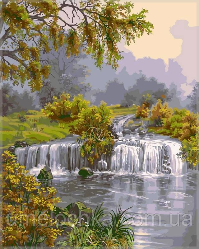 Картина по номерам на холсте Babylon Река с водопадом