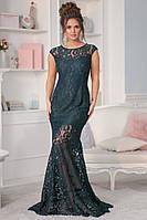 Женское нарядное платье в пол из гипюра