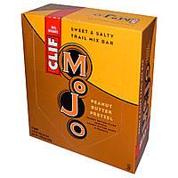 Clif Bar, Mojo, сладко-соленый батончик с сухофруктами и орехами, брецель и арахисовое масло, 12 баточников, 1,59 унц. (45 г)