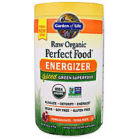 Garden of Life, Raw Organic Perfect Food Energizer, гранат - мате из падуба парагвайского, 9,8 унций (279 г)