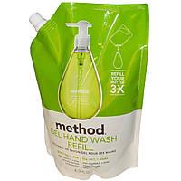 Method, Гель для мытья рук в экономичной упаковке, Зеленый чай и алоэ, 34 жидких унции (1 л)