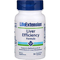 Life Extension, Liver Efficiency Formula, 30 растительных капсул