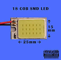 Светодиодные панели 25x15мм для освещения салона авто