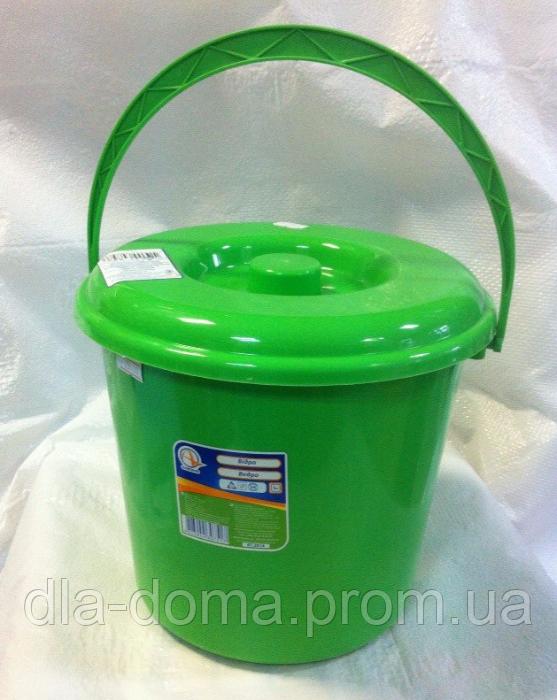 Ведро пластиковое с крышкой  8л АЛЕАНА