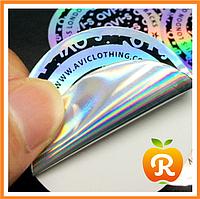 Голографической наклейки (стикеры, защитные наклейки, пломбы). Голограмма. Печать на голограмме., фото 1