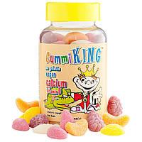 Gummi King, Кальций с витамином D для детей, 60 жевательных конфет