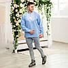 Чоловіча джинсова вишиванка Орнамент Зірка, фото 5