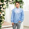 Чоловіча джинсова вишиванка Орнамент Зірка, фото 6