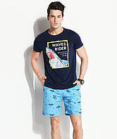 Мужские шорты с принтом Qike - №4730