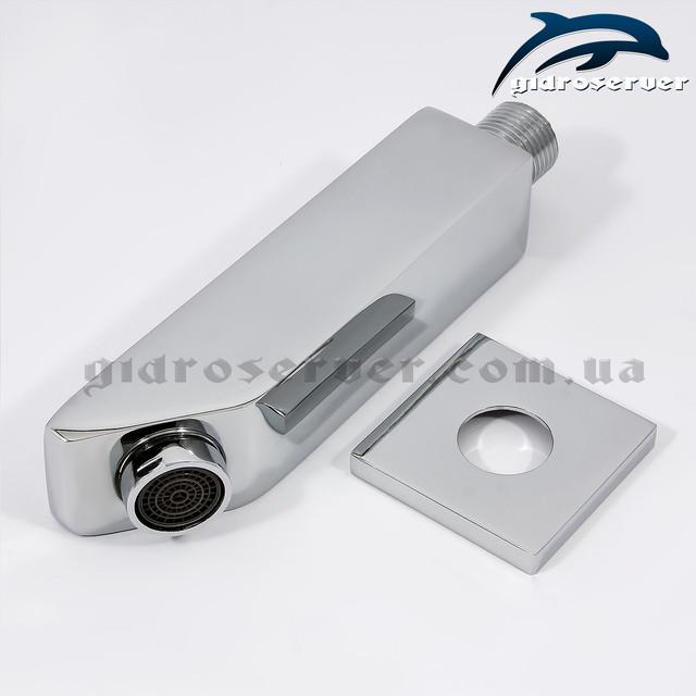 Излив (гусак) для душевой системы скрытого монтажа IL-07 неповоротный, квадратной формы.