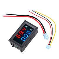 Вольтметр-амперметр ZC15400 постоянного тока; 100В 10A; жк-дисплей, 3р