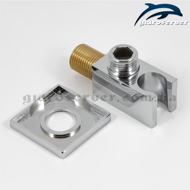 Подключение с держателем для лейки ручного душа UD-15 с размером соединительной резьбы 1/2 дюйма.