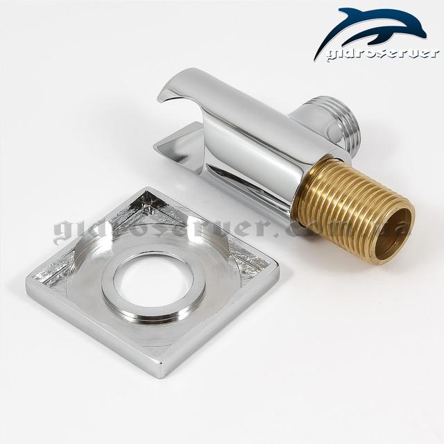 Подключение душевого шланга с держателем для ручного душа UD-14 с размером соединительной резьбы 1/2 дюйма.