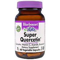 Bluebonnet Nutrition, Супер-кверцетин, 60 капсул в растительной оболочке