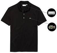 Мужская футболка поло Lacoste (ориг.бирка) черная