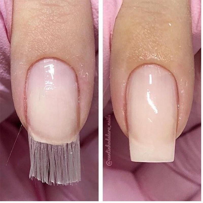 Стекловолокно - fiber glass  для наращивания ногтей.