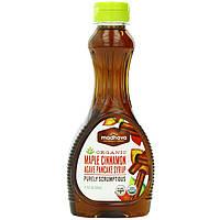 Madhava Natural Sweeteners, Органический кленовый сироп для блинчиков с корицей и агавой, 11,75 жидких унций (347 мл)
