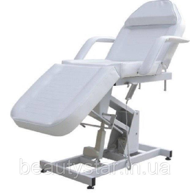 Кресло-кушетка для косметолога с подъемом высоты косметологическая Цвет белый
