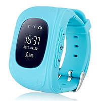 Детские умные смарт-часы Q50 с GPS трекером Smart Watch синие и черные плюс usb led фонарик в подарок