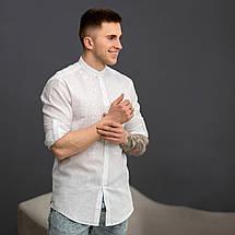 Мужская вышиванка белая с белой вышивкой, фото 2