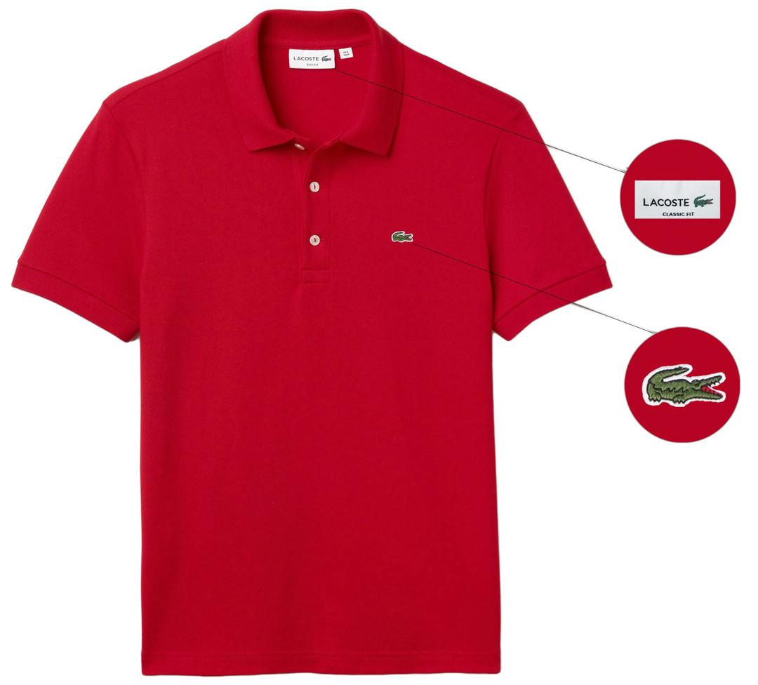 Мужская футболка поло Lacoste (ориг.бирка) красная