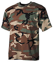 Армейская футболка USA, woodland, 100 % cotton