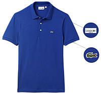 Мужская футболка поло Lacoste (ориг.бирка) синяя