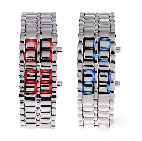 Наручные LED - часы Iron Samurai. Оригинальный дизайн. Модные часы-браслет. Интернет магазин часов. Код: КЧТ8