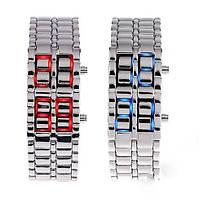 Наручные LED - часы Iron Samurai. Оригинальный дизайн. Модные часы-браслет. Интернет магазин часов. Код: КЧТ8, фото 1