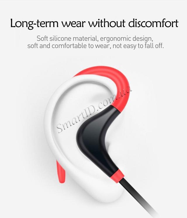 Спортивные Bluetooth наушники BTZ1 со встроенным микрофоном для занятия спортом Черные, красные, синие, зеленые