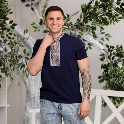 Трикотажная мужская футболка с вышивкой, фото 2