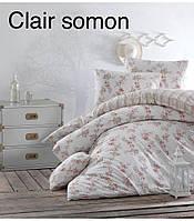 Двуспальное евро постельное белье Altinbasak Ранфорс Clair somon