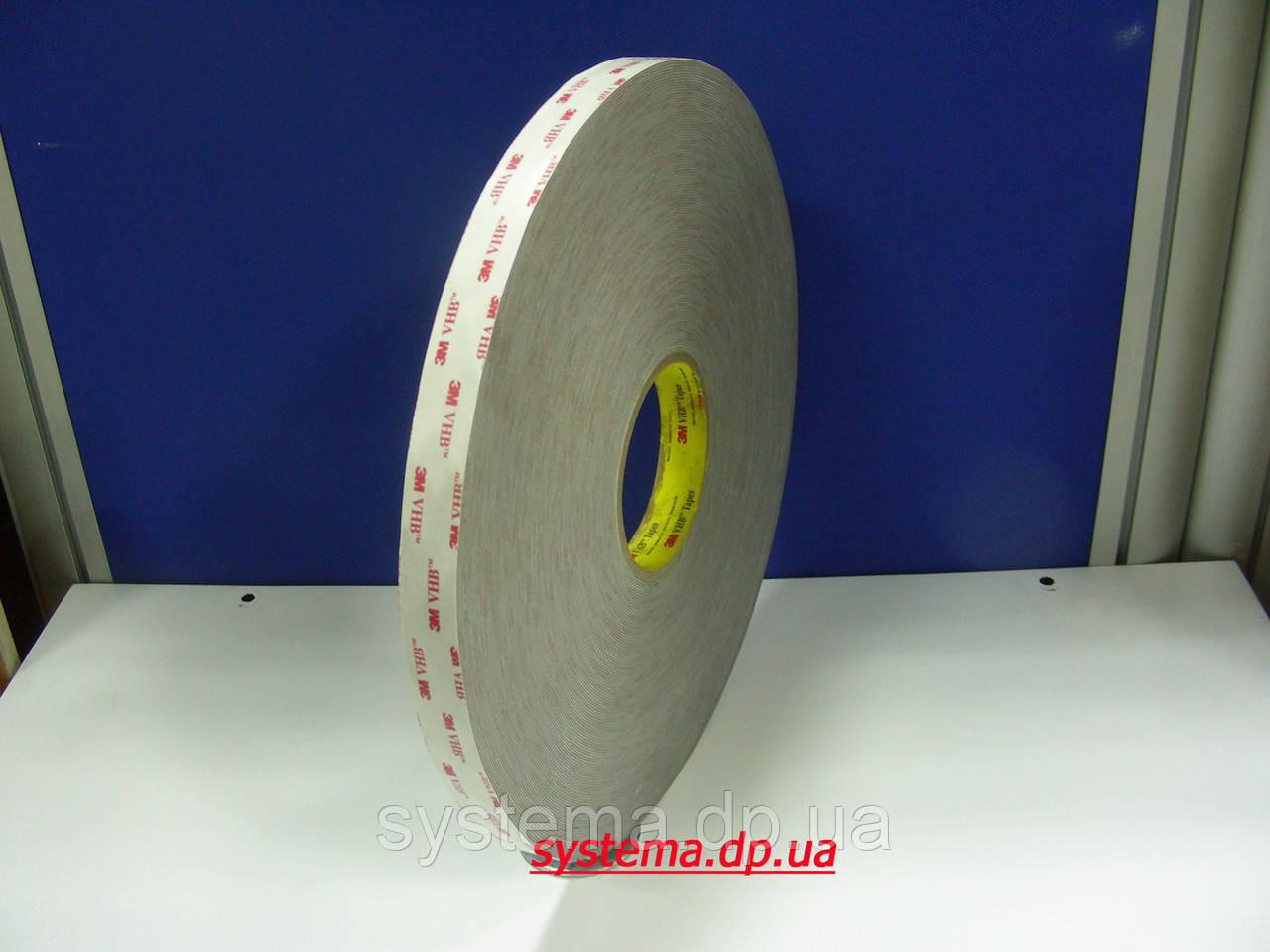 3M™ VHB™  RP16P - Скотч 3М, двухсторонний монтажный, 25,0х0,4 мм, рулон 66 м, бумаж. лайнер