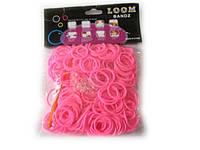 Силіконові резиночки для браслетів рожеві 250 шт, фото 1
