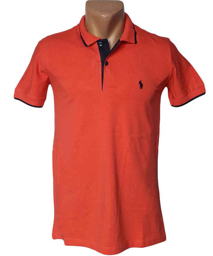 Красная футболка Поло Sport Line - №5037