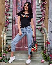 Жіноча футболка вишиванка Лілея чорна, фото 2