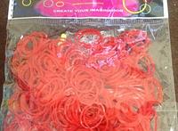 Силіконові резиночки для браслетів червоні 250 шт