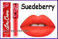 Lime Crime Lipstick Velvetines Suedeberry - Strawberry Red.