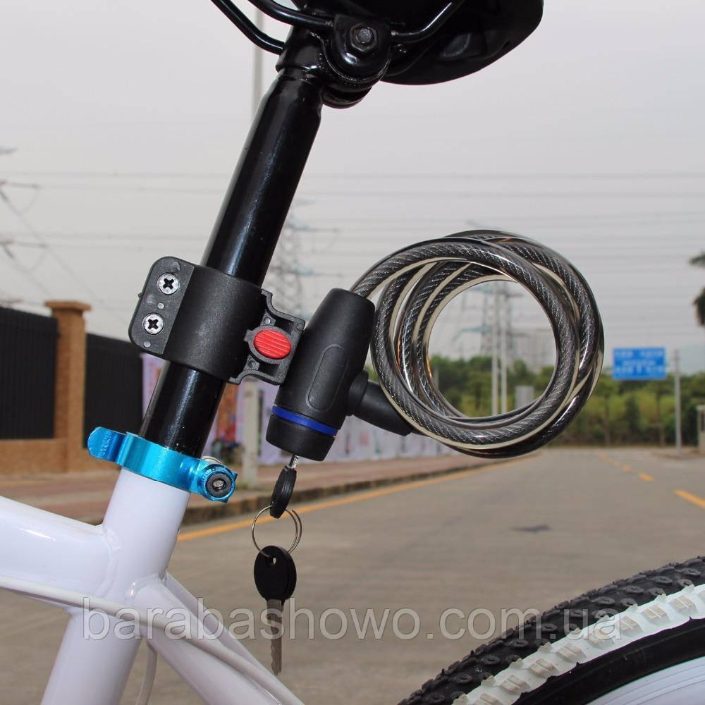 Велосипедный замок под ключ, с защитой от попадания влаги