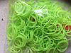 Силіконові резиночки для браслетів (колір лайма) 250 шт